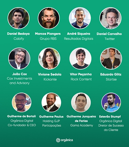 Palestrantes e investidores Gramado Summit